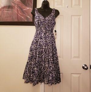 Chaps Malibu Fit & Flare Dress